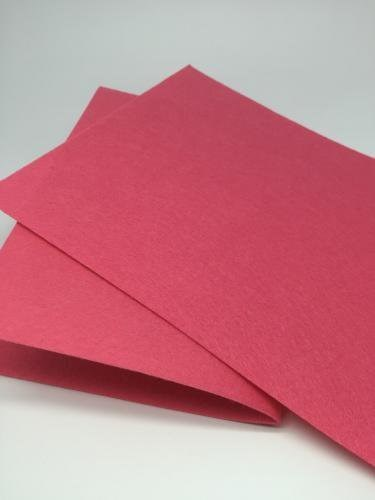 Фетр в рулоне жесткий 1мм ширина 90см арт.СШ цв. 023 т.розовый (отрез 1 метр) - фото 180191