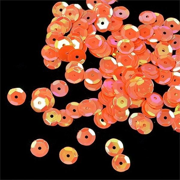Пайетки россыпью Ideal  арт.ТВY-FLK032  8мм  цв.327 оранжевый уп.50гр - фото 196714