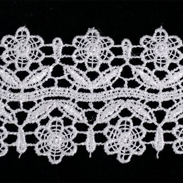 Кружево гипюр арт.TBY-KB- 3 шир.50мм цв.белый уп.13.71м - фото 208310
