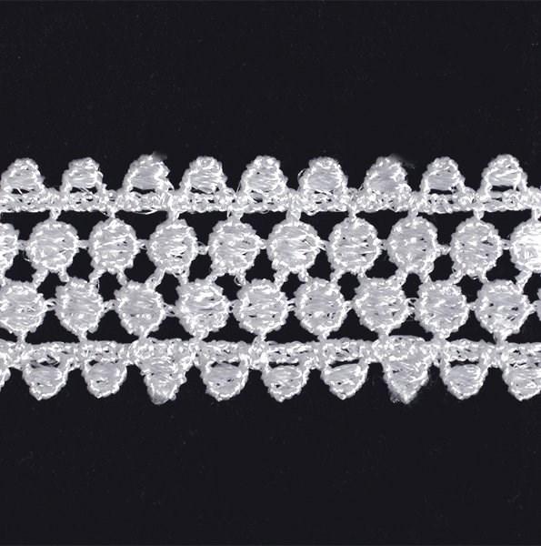 Кружево гипюр арт.TBY-KB-11 шир.25мм цв.белый уп.13.71м - фото 209510