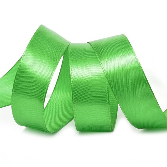 Лента атласная 1' (25мм) цв.3041 зеленый IDEAL уп.27,4 м - фото 228952