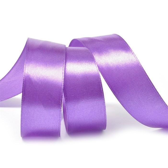 Лента атласная 1' (25мм) цв.3116 т.фиолетовый IDEAL уп.27,4 м - фото 228971