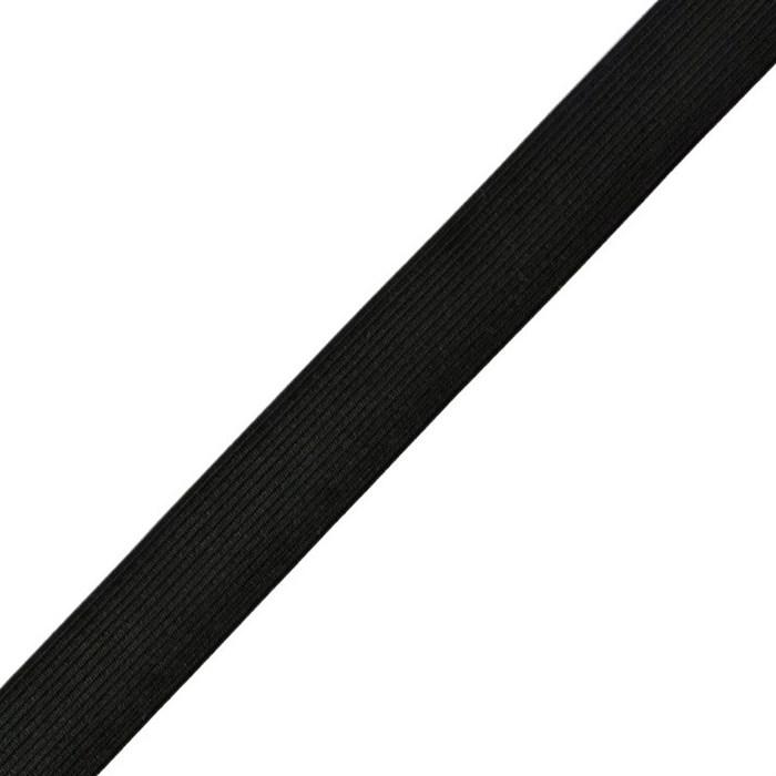Резинка вязаная арт.ТВ-25мм цв.черный упак.40м - фото 238886
