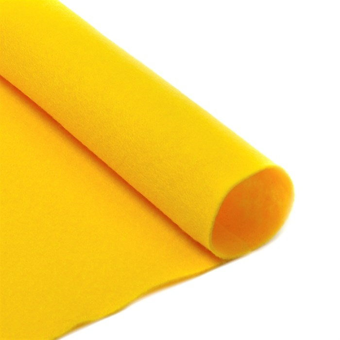 Фетр листовой мягкий IDEAL 1мм 20х30см арт.FLT-S1 уп.10 листов цв.643 желтый - фото 243940