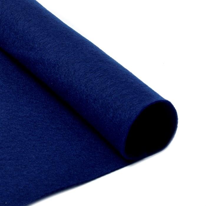 Фетр листовой мягкий IDEAL 1мм 20х30см арт.FLT-S1 уп.10 листов цв.673 т.синий - фото 243957
