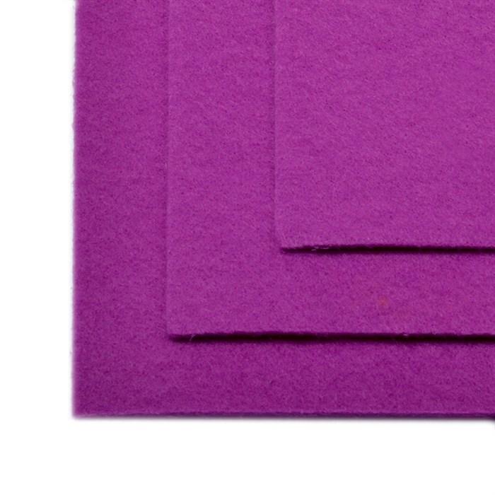 Фетр листовой жесткий IDEAL 1мм 20х30см арт.FLT-H1 уп.10 листов цв.619 сирень - фото 243964