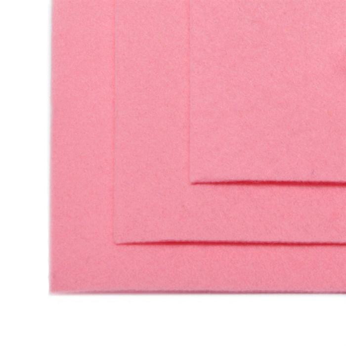 Фетр листовой жесткий IDEAL 1мм 20х30см арт.FLT-H1 уп.10 листов цв.613 св.розовый - фото 243966