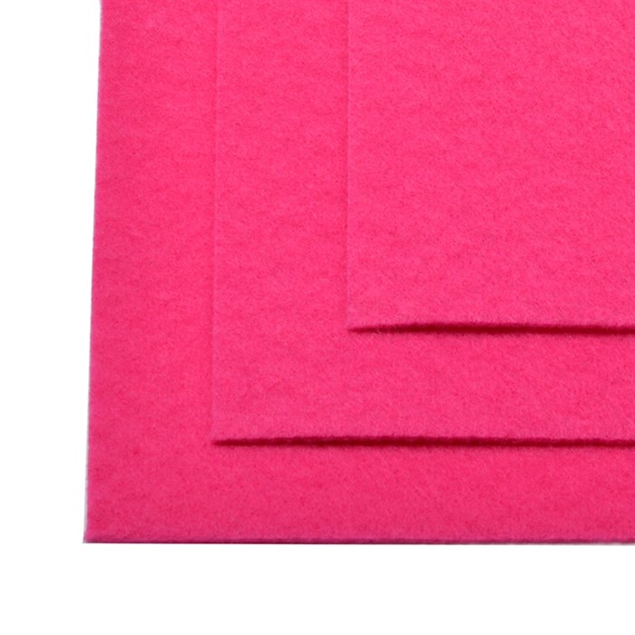 Фетр листовой жесткий IDEAL 1мм 20х30см арт.FLT-H1 уп.10 листов цв.609 яр.розовый - фото 243968