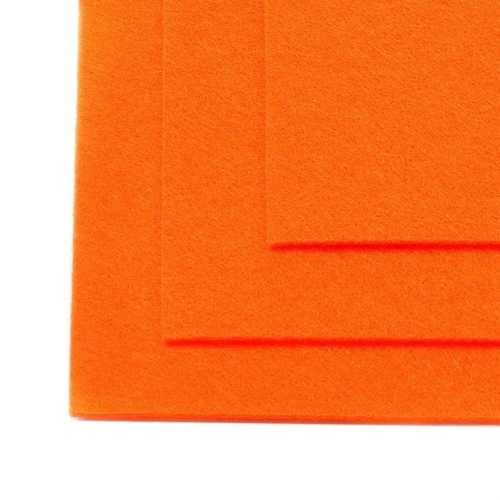 Фетр листовой жесткий IDEAL 1мм 20х30см арт.FLT-H1 уп.10 листов цв.645 бл.оранжевый - фото 243973