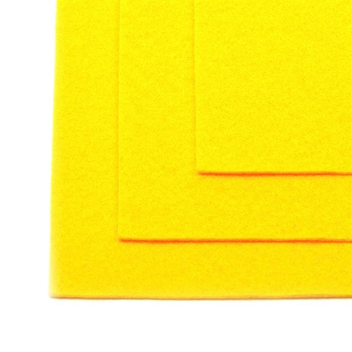 Фетр листовой жесткий IDEAL 1мм 20х30см арт.FLT-H1 уп.10 листов цв.643 желтый - фото 243974