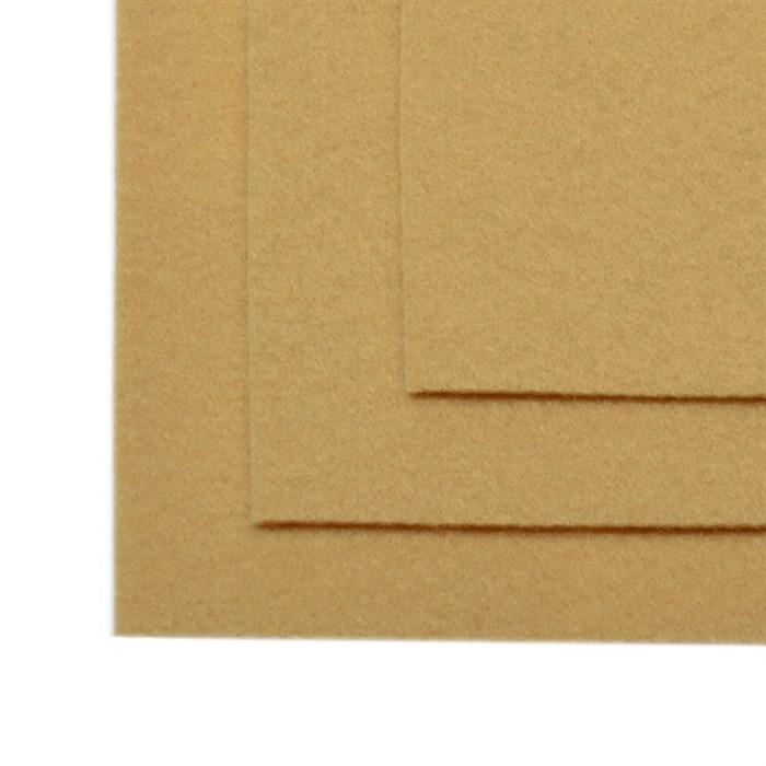 Фетр листовой жесткий IDEAL 1мм 20х30см арт.FLT-H1 уп.10 листов цв.641 св.бежевый - фото 243975