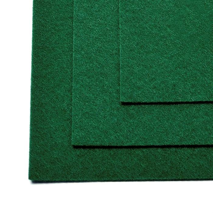 Фетр листовой жесткий IDEAL 1мм 20х30см арт.FLT-H1 уп.10 листов цв.667 т.зеленый - фото 243981