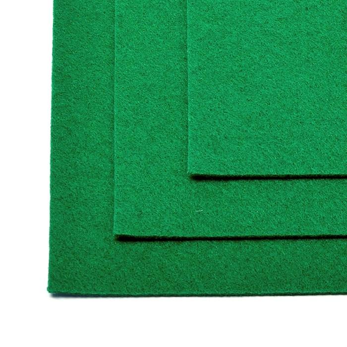 Фетр листовой жесткий IDEAL 1мм 20х30см арт.FLT-H1 уп.10 листов цв.672 зеленый - фото 243982