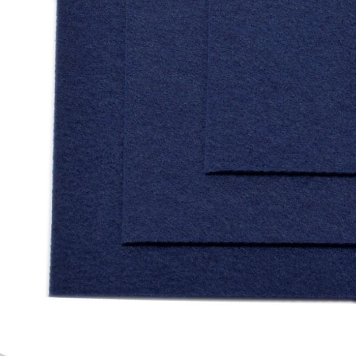 Фетр листовой жесткий IDEAL 1мм 20х30см арт.FLT-H1 уп.10 листов цв.673 т.синий - фото 243983