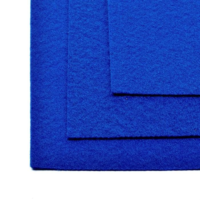 Фетр листовой жесткий IDEAL 1мм 20х30см арт.FLT-H1 уп.10 листов цв.675 синий - фото 243987