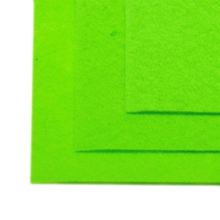 Фетр листовой жесткий IDEAL 1мм 20х30см арт.FLT-H1 уп.10 листов цв.674 салатовый - фото 243988