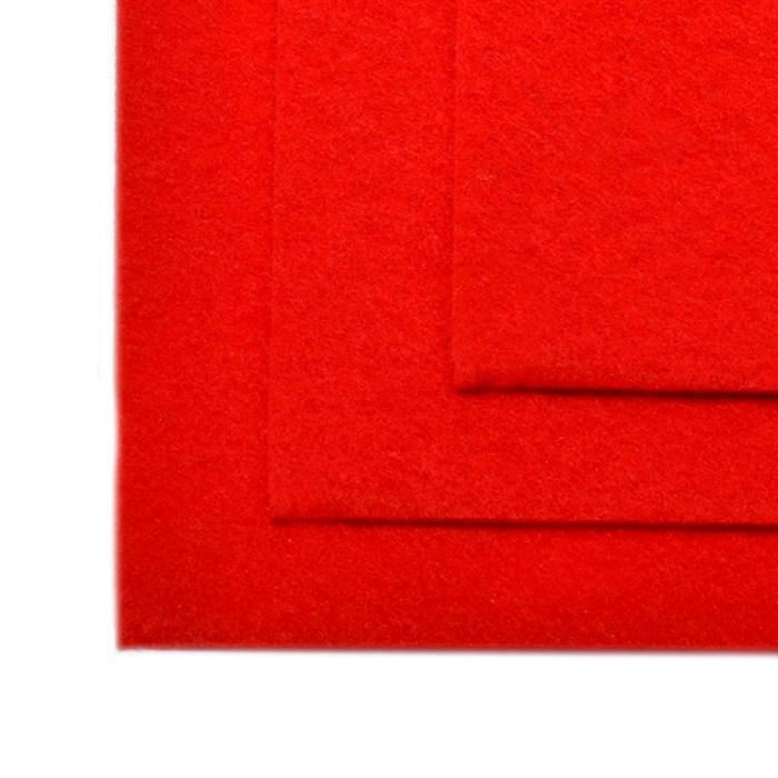 Фетр листовой жесткий IDEAL 1мм 20х30см арт.FLT-H1 уп.10 листов цв.601  красный - фото 243993