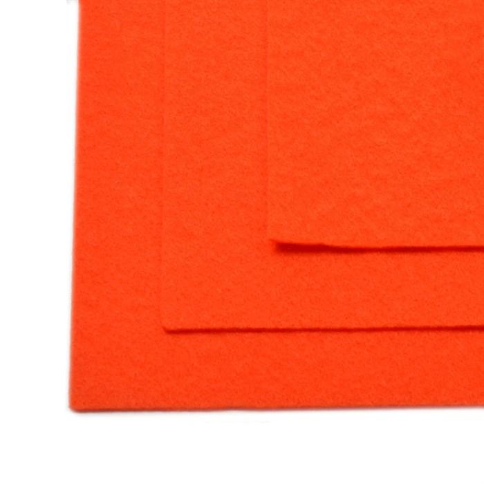 Фетр листовой жесткий IDEAL 1мм 20х30см арт.FLT-H1 уп.10 листов цв.628 оранжевый - фото 243995
