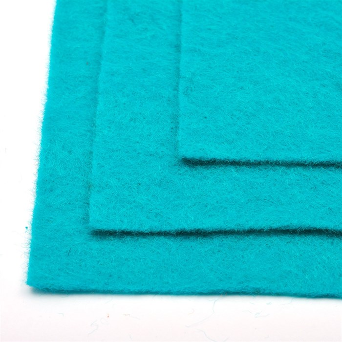 Фетр листовой жесткий IDEAL 1мм 20х30см арт.FLT-H1 уп.10 листов цв.651 бирюза - фото 245870