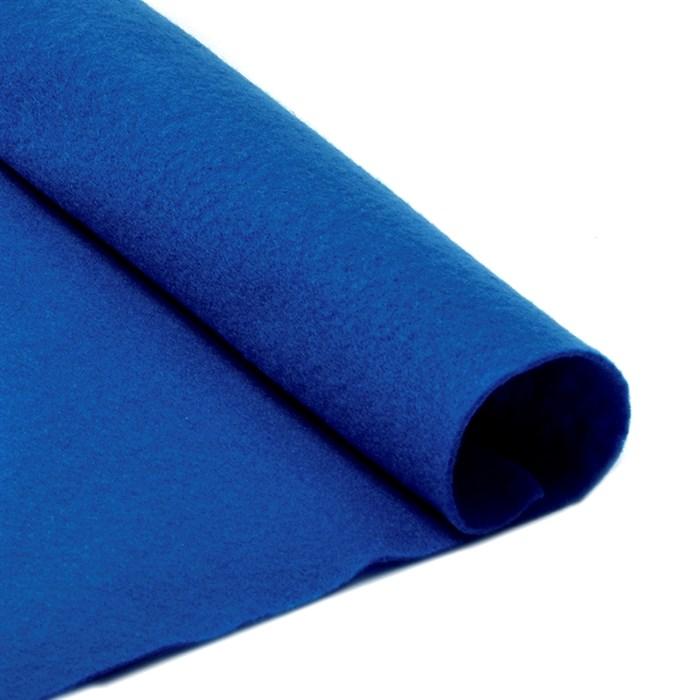 Фетр в рулоне мягкий IDEAL 1мм 100см арт.FLT-S2 цв.675 синий (отрез 1 метр) - фото 245873