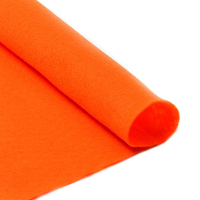 Фетр в рулоне мягкий IDEAL 1мм 100см арт.FLT-S2 цв.645 бл.оранжевый (отрез 1 метр) - фото 245875