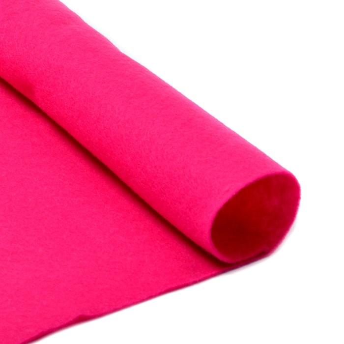 Фетр в рулоне мягкий IDEAL 1мм 100см арт.FLT-S2 цв.609 ярк.розовый (отрез 1 метр) - фото 245879