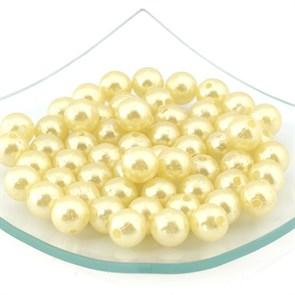Бусины MAGIC HOBBY круглые перламутр 12мм  цв.132 желтый уп.50гр  (64 шт)
