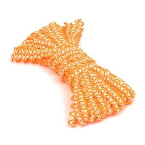 Тесьма плетеная 'вьюнчик' арт.С-3726 (3582) г17 шир.7мм (5мм) рис.9253 цв.138 яр.оранжевый-белый фас.20м