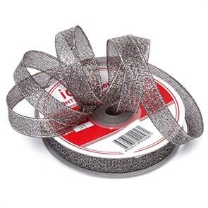 Лента  IDEAL с люрексом арт.ТВ-ЛЮР шир.12мм цв.139 черный/серебро