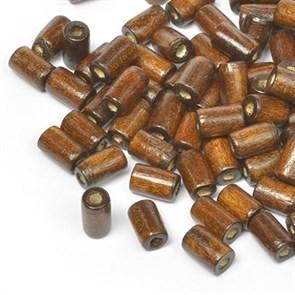 Бусины деревянные MAGIC HOBBY арт.MG-B 481 цв.1 уп.40гр 10х4мм, in d-2 мм 280+/-3 шт.