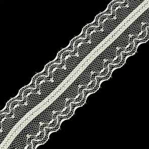 Кружево-трикотаж арт.TBY-186-2 цв.белый уп.22,86м