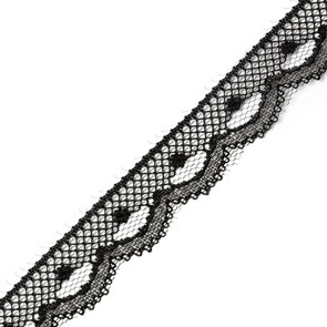 Кружево-трикотаж арт.TBY-230-1 цв.черный уп.22,86м