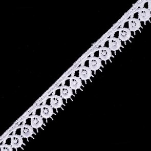 Кружево гипюр арт.TBY-14048 шир.20мм цв.001 белый уп.13.71м
