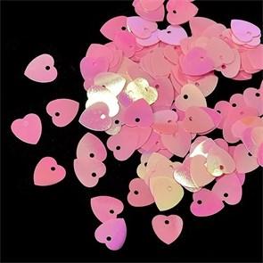Пайетки россыпью Ideal  арт.ТВY-FLK297  10мм  цв.029 розовый уп.50гр
