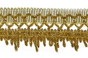 Тесьма отделочная  арт.9251  шир. 42 мм  цв. золото  уп.18,28м