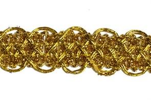Тесьма отделочная  арт.8099  шир. 20 мм  цв. золото  уп.18,28м