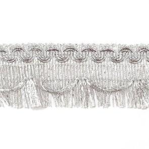 Тесьма-бахрома  арт.TBY-007/3475  шир.45мм цв. серебро  уп.13.71м