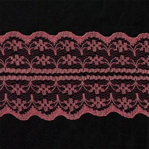 Кружево-трикотаж арт.TBY-133-2A шир.45мм цв.св.красный уп.45,7м