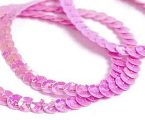 Пайетки на нитях 6мм Cream Colour арт.TBY-FLKU06-CC цв.0089 амарантовый розовый уп.73.12м