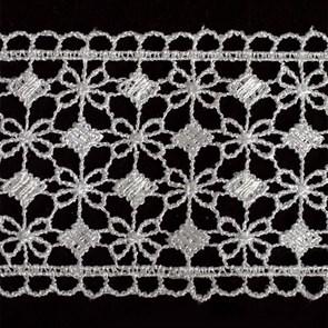 Кружево гипюр арт.TBY-KB- 9 шир.65мм цв.белый уп.13.71м