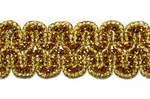 Тесьма отделочная  арт.9727  шир. 25 мм  цв. золото  уп.18,28м