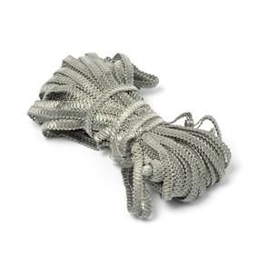 Тесьма вязаная отделочная 'Змейка' арт.с3702г17 шир.7мм рис.9166 цв.13 серый