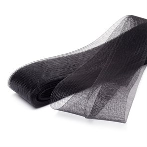 Регилин мягкий  арт. MF-50 шир.50мм  цв.черный ( рул. 23м )