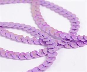 Пайетки на нитях 6мм Cream Colour арт.TBY-FLKU06-CC цв.0024 фиолетовый уп.73.12м