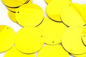 Пайетки россыпью Ideal  арт.ТВY-FLK117  30мм  цв.A007 желтый уп.50гр