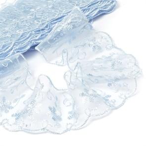 Кружево капрон арт.TBY.30011 шир.65мм цв.187 голубой рул.13,7м