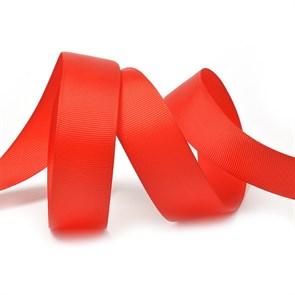 Лента репсовая шир.25мм цв.235 красный IDEAL уп. 22,85м