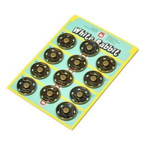 Кнопка пришивная арт.TBY-SBB латунь 30 мм цв.античная латунь упак.12 шт