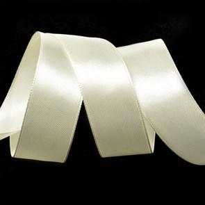 Лента атласная 1' (25мм) цв.3002 кремовый IDEAL уп.27,4 м