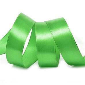 Лента атласная 1' (25мм) цв.3041 зеленый IDEAL уп.27,4 м